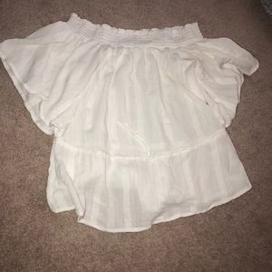Abercrombie and Fitch White Off The Shoulder S